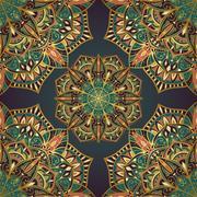 Filigree pattern of mandalas. Stock Illustration