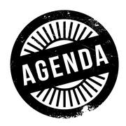 Agenda stamp Stock Illustration