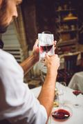 Colour saturation of red wine Stock Photos