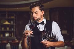 This glass of wine smells better Stock Photos