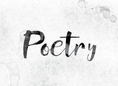 Poetry Concept Painted in Ink Stock Illustration