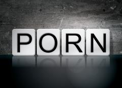 Porn Tiled Letters Concept and Theme Stock Illustration