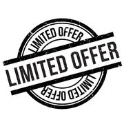 Limited offer stamp Stock Illustration