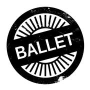 Famous dance style, ballet stamp Stock Illustration