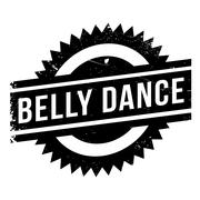 Famous dance style, belly dance stamp Stock Illustration