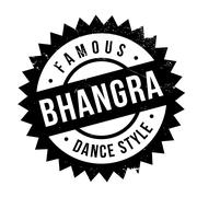 Famous dance style, Bhangra stamp Stock Illustration