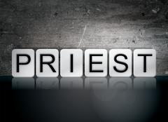 Priest Tiled Letters Concept and Theme Stock Illustration