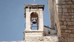 Church belfry western movie MS Stock Footage