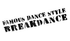 Famous dance style, Breakdance stamp Stock Illustration
