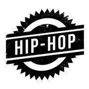 Famous dance style, Hip-Hop stamp Stock Illustration