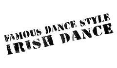 Famous dance style, Irish dance stamp Stock Illustration
