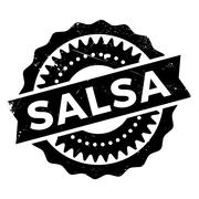 Famous dance style, salsa stamp Piirros
