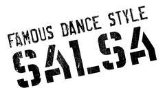 Famous dance style, salsa stamp Stock Illustration