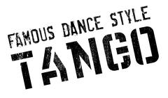 Famous dance style, tango stamp Stock Illustration