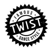 Famous dance style, Twist stamp Stock Illustration