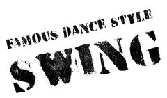 Famous dance style, Swing stamp Stock Illustration