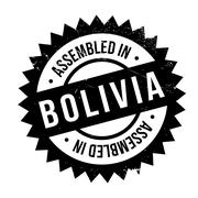 Assembled in Bolivia rubber stamp Stock Illustration
