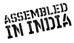 Assembled in India rubber stamp Stock Illustration
