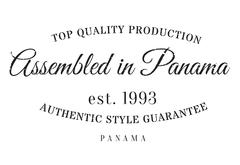 Assembled in Panama rubber stamp Stock Illustration