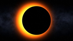 Fiery Solar Eclipse (60fps) Stock Footage