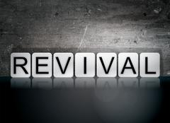 Revival Tiled Letters Concept and Theme Stock Illustration