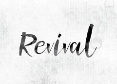 Revival Concept Painted in Ink Stock Illustration