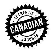 Authentic canadian product stamp Stock Illustration