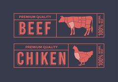 Logo for labelling of meat. Piirros