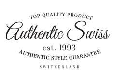 Authentic swiss product stamp Stock Illustration