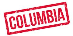 Columbia rubber stamp Stock Illustration