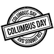 Columbus Day rubber stamp Stock Illustration