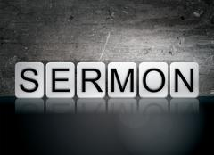 Sermon Tiled Letters Concept and Theme Stock Illustration