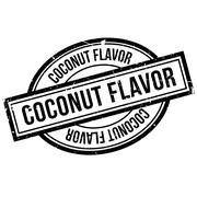 Coconut Flavor rubber stamp Stock Illustration