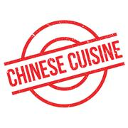 Chinese Cuisine rubber stamp Stock Illustration