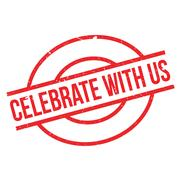 Celebrate With Us rubber stamp Stock Illustration
