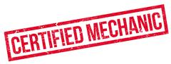 Certified Mechanic rubber stamp Stock Illustration