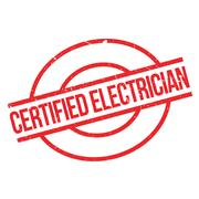 Certified Electrician rubber stamp Stock Illustration
