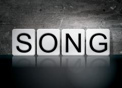Song Tiled Letters Concept and Theme Stock Illustration