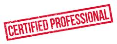 Certified Professional rubber stamp Stock Illustration