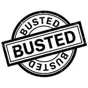 Busted rubber stamp Stock Illustration