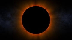 Ominous Solar Eclipse (60fps) Stock Footage