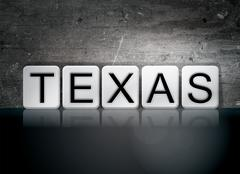Texas Tiled Letters Concept and Theme Piirros