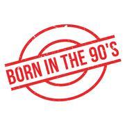 Born In The 90'S rubber stamp Stock Illustration