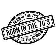 Born In The 70'S rubber stamp Stock Illustration
