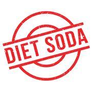 Diet Soda rubber stamp Stock Illustration