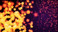 Abstract Loopable Background with nice multicolor flying stars Stock Footage