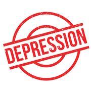 Depression rubber stamp Stock Illustration