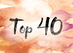 Top 40 Colorful Watercolor and Ink Word Art Stock Illustration