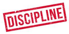 Discipline rubber stamp Stock Illustration