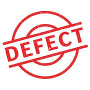Defect rubber stamp Stock Illustration